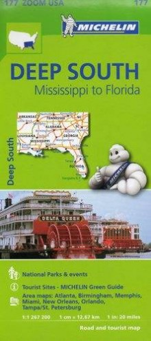 Deep South Mississipi to Florida, 1:1 267 200, mapa samochodowa, Michelin