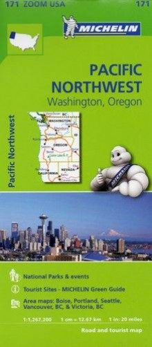 Pacific Northwest, Washington. Oregon, 1:1 267 200, mapa samochodowa, Michelin