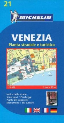 Venezia, 1:5 500, plan miasta, Michelin