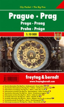 Praga city pocket mapa 1:10 000 Freytag & Berndt, plan miasta