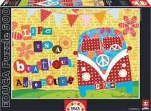 Life Is A Beautiful Adventure - puzzle 500 elementów, puzzle, Educa