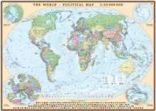 World political wall map on the ground to connect 1:25 000 000, Eko-Graf