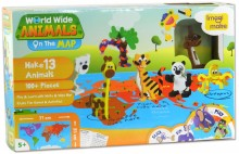 World Wide Animals on the Map, puzzle, Imagi