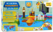 World Wide Monuments on the Map, puzzle, Imagi