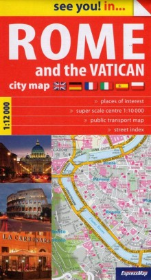 Rome and the Vatican, plan miasta, Expressmap