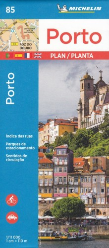 Porto, 1:11 000, plan miasta, Michelin