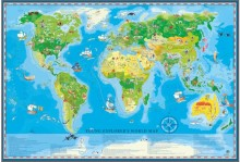 The world of the Young Explorer wall map for children - sticker, ArtGlob
