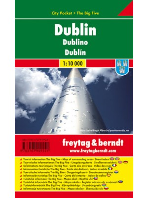 Dublin city pocket mapa 1:10 000 Freytag & Berndt, plan miasta
