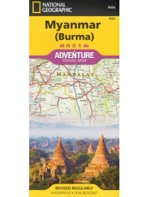 Myanmar (Burma), 1:1 480 000, National Geographic