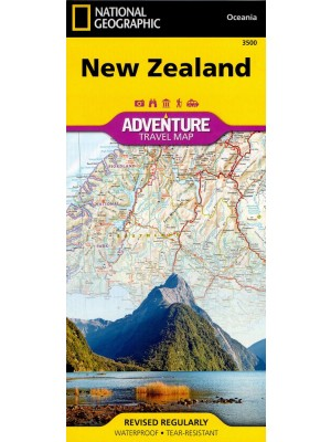 New Zealand, 1:1 100 000, National Geographic