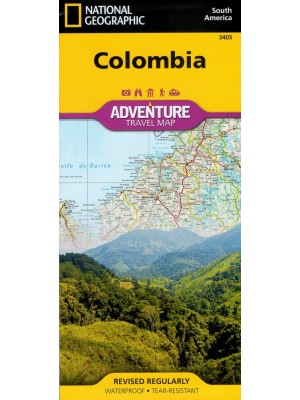 Colombia, 1:1 525 000, National Geographic