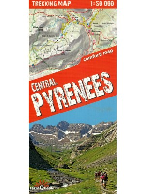 Central Pyrenees, 1:50 000, mapa turystyczna, terraQuest