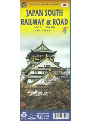Japan South Railway & Road, 1:670 000, mapa samochodowa,ITMB