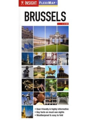 Brussels, 1:12 500, plan miasta, Insight Guides