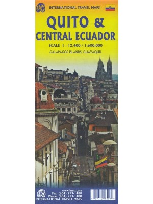 Quito and Ecuador Central, 1:12 400 / 1:600 000, plan miasta, ITMB
